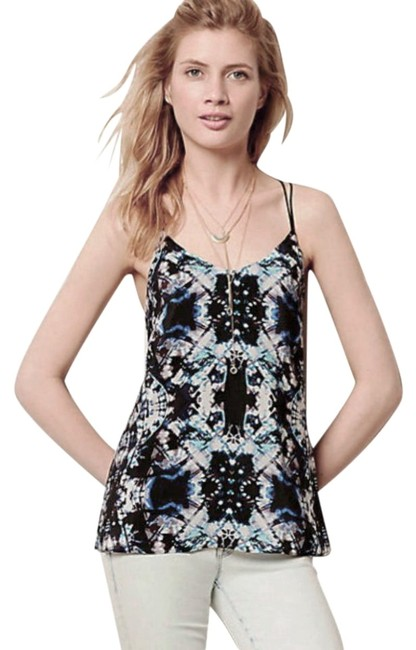 Anthropologie Tie-dye Strappy Lined Versatile Weat To The Beach Top Black Image 2