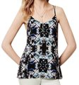 Anthropologie Tie-dye Strappy Lined Versatile Weat To The Beach Top Black Image 3