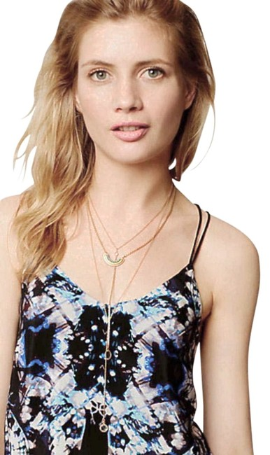Anthropologie Tie-dye Strappy Lined Versatile Weat To The Beach Top Black Image 4