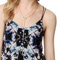 Anthropologie Tie-dye Strappy Lined Versatile Weat To The Beach Top Black Image 5