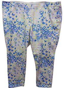 Talbots Blend Lightweight 22w Petite Spring Capri/Cropped Pants Multi-Color