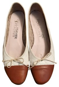 Paul Mayer Classic Leather Quilted White Flats