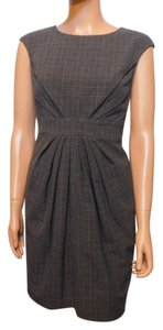 Adrianna Papell Menswear Plaid Dress