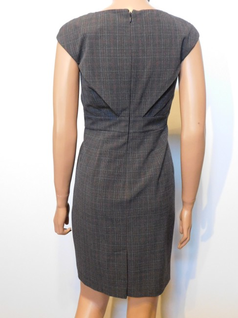 Adrianna Papell Menswear Plaid Dress Image 1
