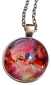 Other New Fairy Cabochon Necklace Silver Tone J3125