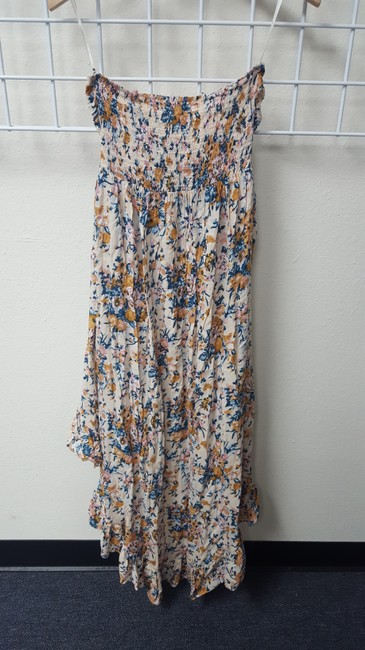 Multi Floral Maxi Dress by Other Hi Lo Bandeau Maxi Printed Image 1