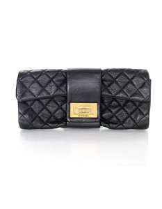 Chanel Quilted Leather Black Clutch