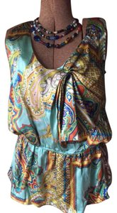 Anthropologie Boho Paisley Silk Office Top