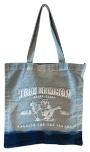 True Religion Ombre Large Tote in blue