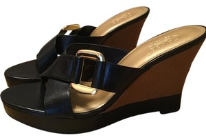 Chaps Wedge black Sandals