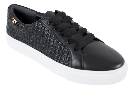 Tory Burch Sneaker Quilted Leather Bryant Black Flats Image 10