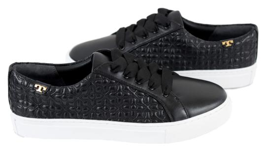 Tory Burch Sneaker Quilted Leather Bryant Black Flats Image 3