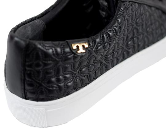 Tory Burch Sneaker Quilted Leather Bryant Black Flats Image 4
