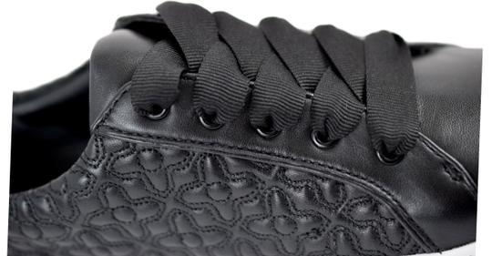 Tory Burch Sneaker Quilted Leather Bryant Black Flats Image 6