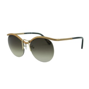 Lanvin Lanvin Paris SLN050 SNT Round Rimless Gold Metal Sunglasses