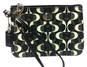 Coach F50523 50523 Wristlet in Black/White