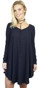 Mitto short dress Navy Fit Flare Sweater Skater Long Sleeve on Tradesy