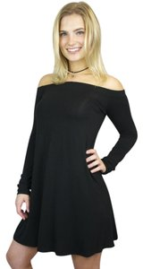 Mitto Off Long Sleeve Mini Fit N Flare Dress
