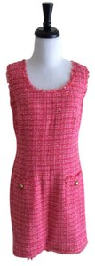 Laundry by Shelli Segal short dress Pink Tweed Fringe Sleeveless on Tradesy