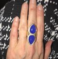 Anna Beck Lapis and Gold Ring Anna Beck Lapis and Gold Ring Image 11