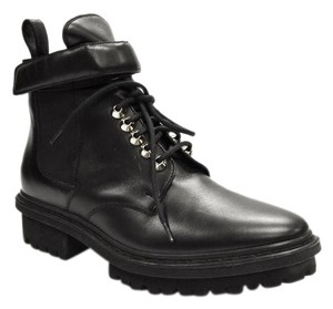 Balenciaga Lug Sole Lace Up Black Boots