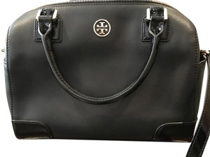 Tory Burch Patent Leather Gold Accents Brand New Satchel in Black