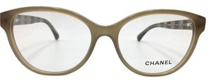 Chanel Chanel Round Beige Lace Eyeglasses 3292 c.1416 54