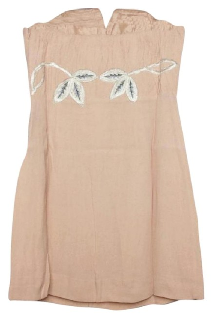 Free People Lined Catching Shimmer Appliques Back Corset Boning Strapless Flattering Dress Image 6