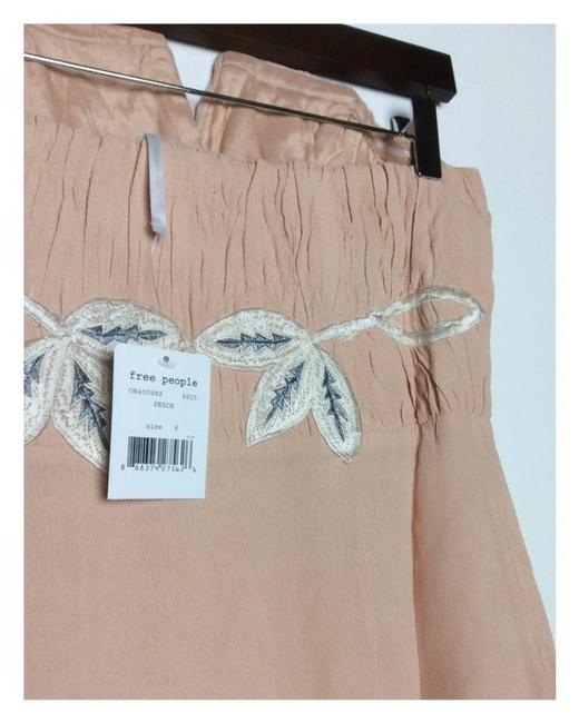 Free People Lined Catching Shimmer Appliques Back Corset Boning Strapless Flattering Dress Image 8