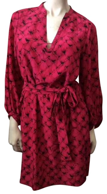 Diane von Furstenberg Pink Tanyana Clean Above Knee Night Out Dress Size 8 (M) Diane von Furstenberg Pink Tanyana Clean Above Knee Night Out Dress Size 8 (M) Image 1