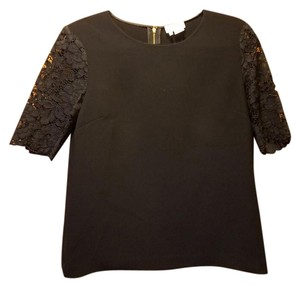 Kate Spade Lace Black New York Zipper Top