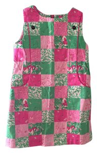 Lilly Pulitzer short dress Pink and green printed on Tradesy