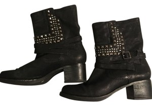 Vince Camuto Studded Ankle Chunky Black Boots