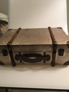 Gold Vintage Style Suitcase