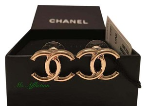 Chanel CHANEL Authentic CC Gold Earrings 2016/2017 NWB