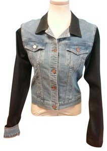 J Brand Denim Blue with Black Trim Womens Jean Jacket
