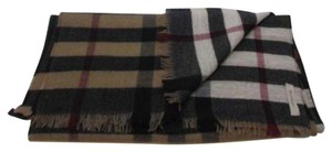 Burberry Reversible Colour Check Wool Scarf 51&12in