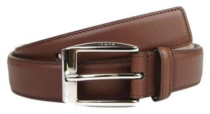 Gucci Brown Leather Classic Square Buckle Belt 100/40 336831 2218 bgh0n