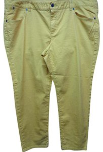 Talbots Plus-size Blend Slim Skinny Pants Yellow