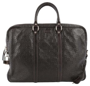 Gucci Leather Briefcase Satchel