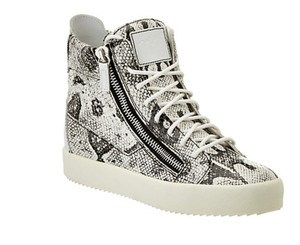 Giuseppe Zanotti High Top Sneaker Sneaker Sneaker Trainer SNAKESKIN EMBOSSED LEATHER Wedges