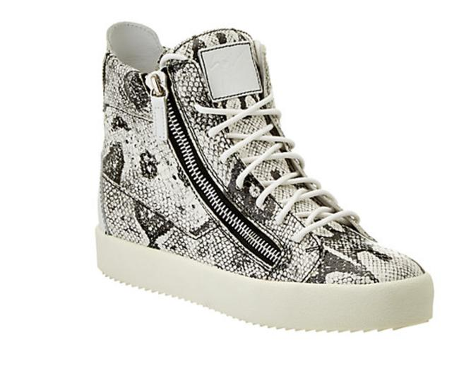 Giuseppe Zanotti Snakeskin Embossed Leather New High Top Fashion Sneaker 41 Wedges Size US 11 Giuseppe Zanotti Snakeskin Embossed Leather New High Top Fashion Sneaker 41 Wedges Size US 11 Image 1