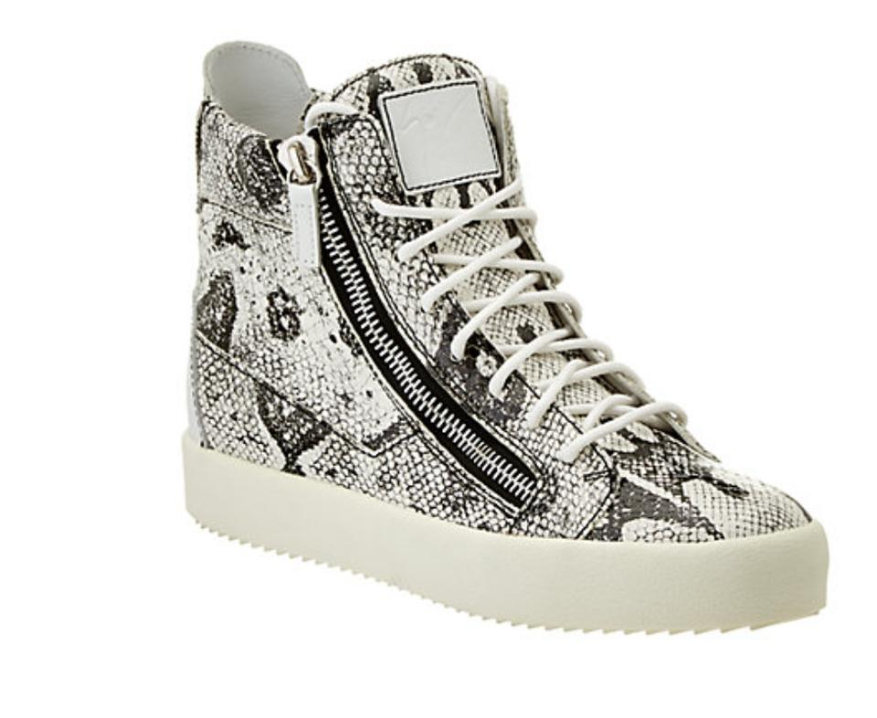 competitive price b2a62 3907c Giuseppe Zanotti Snakeskin Embossed Leather New High Top Fashion Sneaker 41  Wedges Size US 11