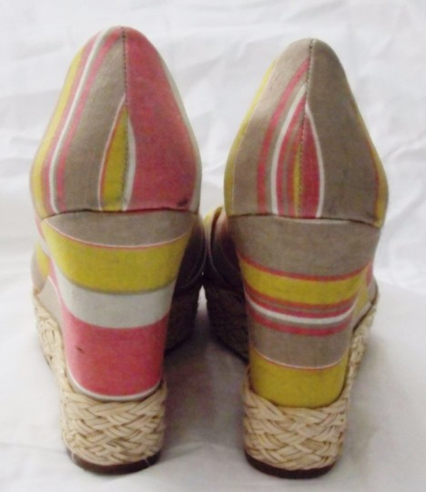 REPORT Platforms Goldie Striped Fabric Goldie Multi Color Wedges Image 4