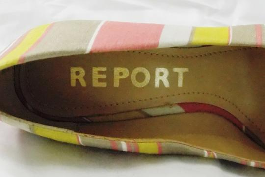 REPORT Platforms Goldie Striped Fabric Goldie Multi Color Wedges Image 5