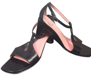 Circa Joan & David And Wedge Summer Black Sandals