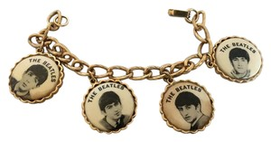 Other Vintage 1964 Beatles Gold Chain Charm have pictures faces Bracelet
