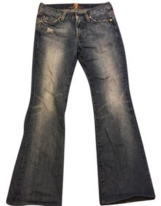 7 For All Mankind Seven Denim Boot Cut Jeans-Distressed