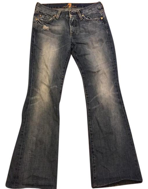 Preload https://img-static.tradesy.com/item/20650172/7-for-all-mankind-blue-distressed-flare-boot-cut-jeans-size-27-4-s-0-1-650-650.jpg