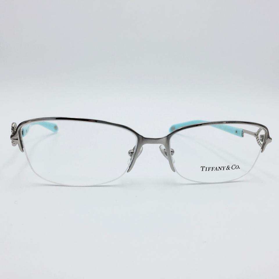 Tiffany & Co. Silver Blue Heart Twist Key Eyeglass Frame - Tradesy